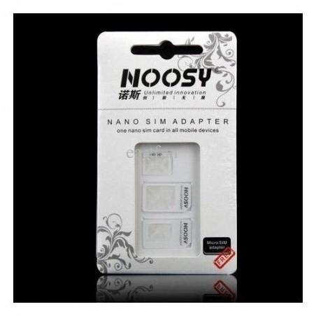 Kit d'adaptateurs pour SIM/MICRO, MICRO SIM et NANO/SIM (NOOSY 3en1)