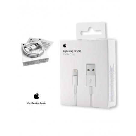 Câble USB vers Lightning Blanc 1M - A1480 en boite - Apple